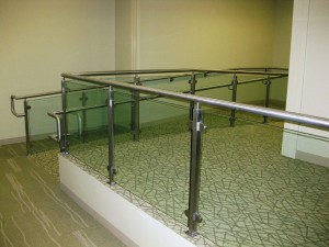 A photo of Texas Metal Tech's Cadence Bank Handrail Installation.