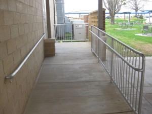 Leon High School Handrail installation by Texas Metal Tech.