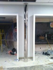 mirror finish polished column